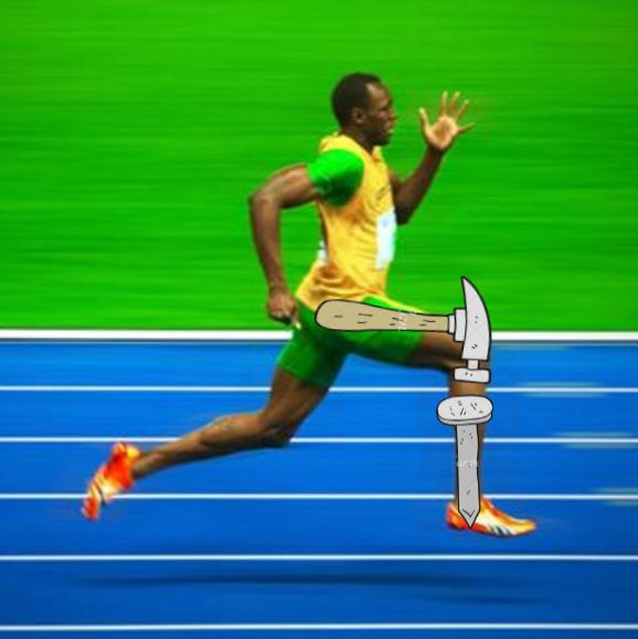 how to sprint faster - usain bolt - hammer and nail concept
